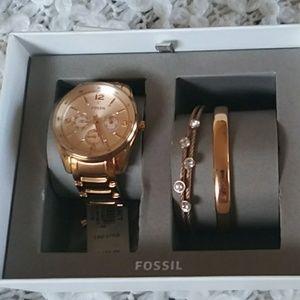 Fossil golden watch